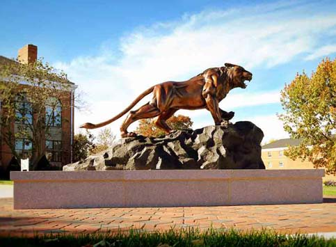 Bearcat Statue at McKendree University