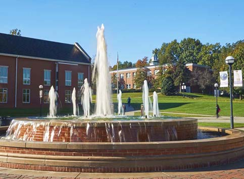 Fountain at McKendree University