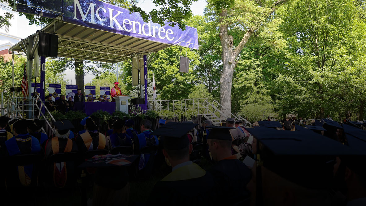 Commencement on the Front Lawn