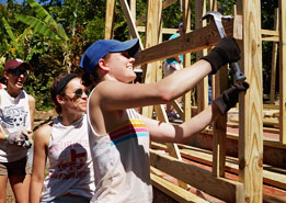 Photo of Students Building House in Jamaica